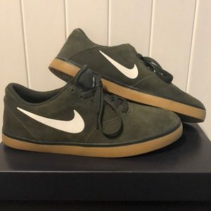 Green Suede Nikes